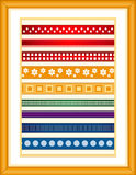 Ribbon Sampler  Stock Photos
