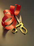 Ribbon and scissors Royalty Free Stock Photo