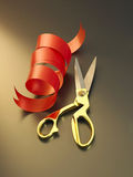 Ribbon and scissors Royalty Free Stock Photography