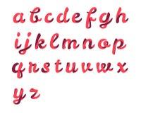 Ribbon script font Stock Images