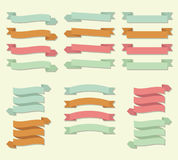 Ribbon Scroll Banner Vector Set Stock Image