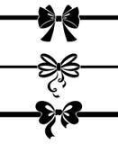 Ribbon set. Black and white isolated illustration Stock Photography