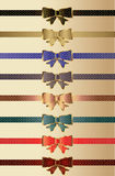 Ribbon set Stock Image