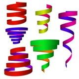 Ribbon set colorful. Royalty Free Stock Photo
