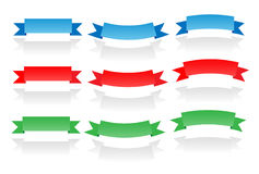 Ribbon Set. With drop shadow, fully editable files included stock illustration