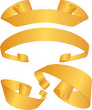 Ribbon Set - Gold Royalty Free Stock Images