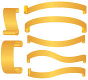 Ribbon Set - Gold Stock Photo