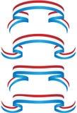 Ribbon Set - Patriotic Royalty Free Stock Photos