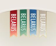 Ribbon set strips Belarus in retro style Stock Image