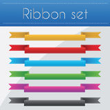 Ribbon set Stock Photos