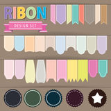 Ribbon set Royalty Free Stock Images