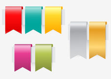 Ribbon set on white background Royalty Free Stock Images