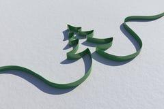 Ribbon in shape of christmas tree Royalty Free Stock Photo