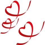 Ribbon-shaped heart Stock Photos