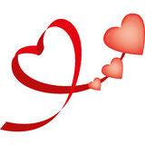 Ribbon-shaped heart Stock Photo