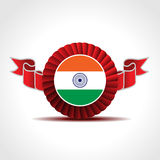 Ribbon showing Indian Flag with copy space. Royalty Free Stock Photo