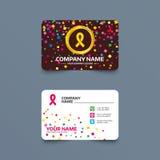 Ribbon sign icon. Breast cancer awareness symbol. Stock Photo
