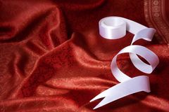 Ribbon and silk background Royalty Free Stock Photo