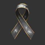 Ribbon with snow Stock Photography