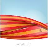 Ribbon spain flag on background Stock Image