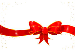 Ribbon With Sparkles Royalty Free Stock Photo