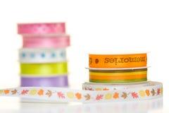 Ribbon spools Stock Photos