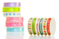 Ribbon spools Royalty Free Stock Image