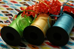 Ribbon Spools Royalty Free Stock Photos
