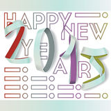 Ribbon Style 2015. Happy New Year greeting in ribbon style for the year of 2015 Stock Photos