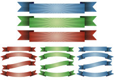 Ribbon sunburst Stock Image