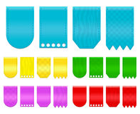 Ribbon tag Stock Photo