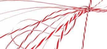 Ribbon Tangle, Striped Stock Images
