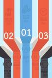 Ribbon-tape infographic design Royalty Free Stock Image