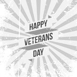 Ribbon Template with Happy Veterans Day Text. Vector Illustration Royalty Free Stock Photo