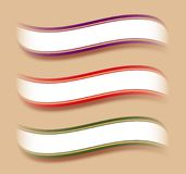 Ribbon text template Royalty Free Stock Photography
