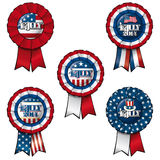 Ribbon 4th of July. Set of 5 interchangeable Ribbons and Buttons on 4th of July Royalty Free Stock Images