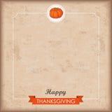 Ribbon Thanksgiving Small Emblem Pumpkin Stock Photo