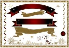 Ribbon Theme Style. Christmas Banner & ribbon Theme Style vector illustration