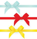 Ribbon three bows vector Stock Image