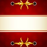 Ribbon tied in Christmas Wallpaper Stock Image