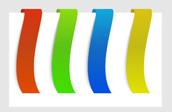 Ribbon in top of the paper Royalty Free Stock Image