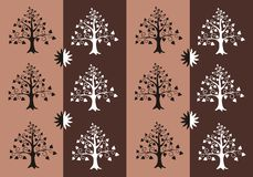 Ribbon of tree silhouette Royalty Free Stock Images