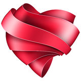 Ribbon twisted in the shape of heart Stock Images