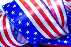 Ribbon USA flag. Royalty Free Stock Image