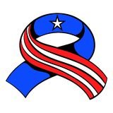 Ribbon in the USA flag colors icon cartoon Royalty Free Stock Images