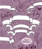 Ribbon for Valentines Day. Royalty Free Stock Photos