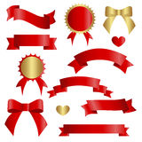 Ribbon vector icon set vector illustration