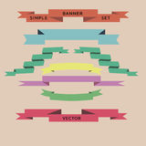 Ribbon vector set different color Stock Photo