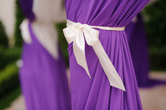 Ribbon on Violet Curtain Royalty Free Stock Photography