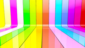 Ribbon wall colorful Royalty Free Stock Images
